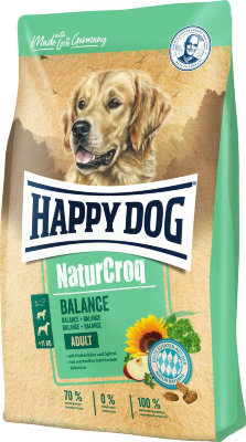 "Happy dog ""Natur Croq Adult Balance"" сухой корм для собак с 5 зерновыми культурами, овощами и сыром"