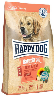 "Happy dog ""Natur Croq"" сухой корм для собак всех пород, с лососем и рисом ""НатурКрок"" 12кг"