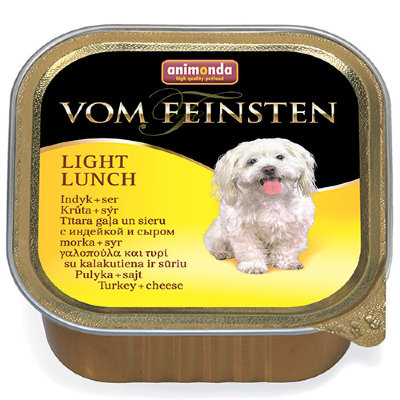 ANIMONDA Vom Feinsten Light Lunch консервы для собак облегченное меню с индейкой и сыром, 150г