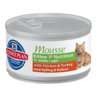 HILL'S Science Plan Kitten 1st Nutrition Mousse with Chicken&Turkey Мусс для котят с курицей и индейкой, 85г