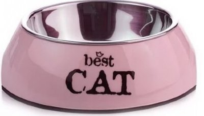 Beeztees Best Cat Миска 2в1 д/кошек бордовая 160мл*14,5*4,5см