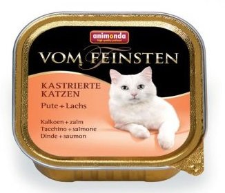 ANIMONDA Vom Feinsten for Castrated Cats Консервы для кошек с индейкой и лососем, 100г